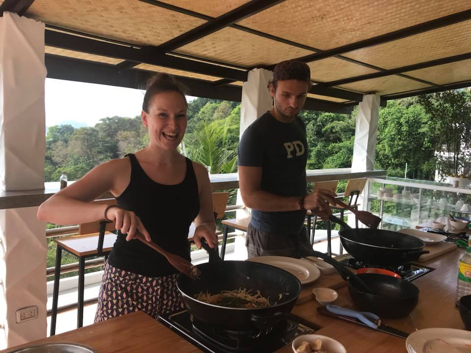 Learning to cook Thai food with Joy
